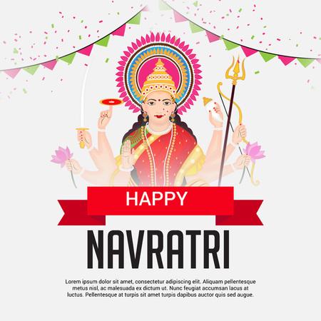 Happy Navratri. Illustration