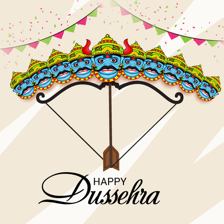 Happy Dussehra. Vector illustration.