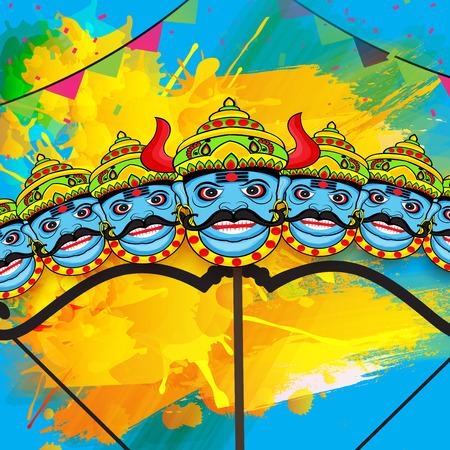 Happy Dussehra vector illustration