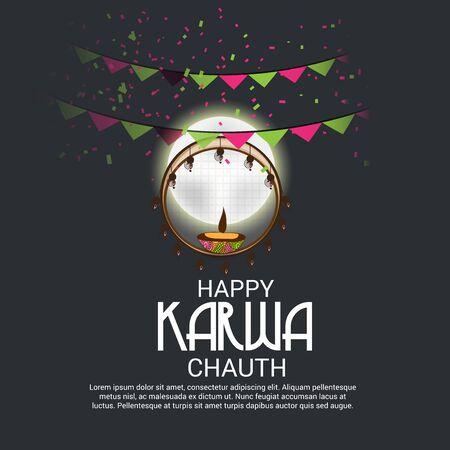 Happy Karwa Chauth. Фото со стока - 86912712