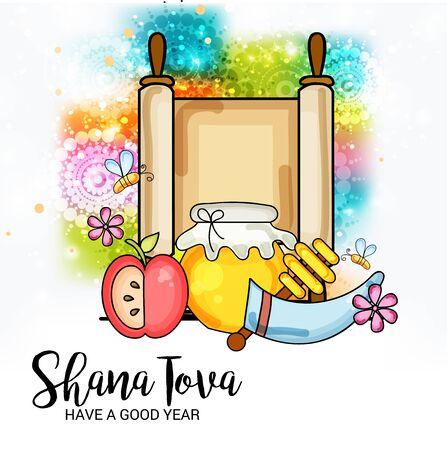 Rosh Hashanah. Ilustrace