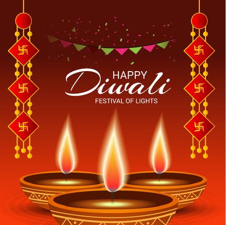 disorder: Happy Diwali. Illustration