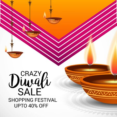 Happy Diwali Vector illustration. Illustration