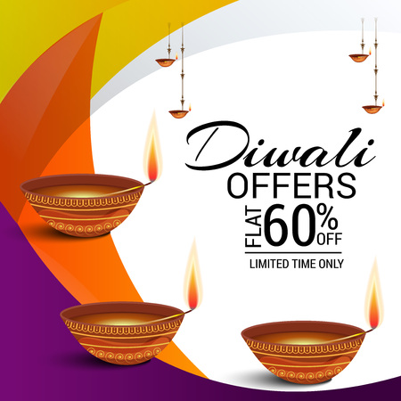 Happy Diwali Vector illustration. Illustration