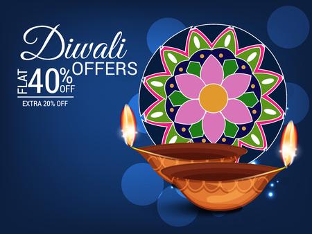 Happy Diwali. Vector illustration.