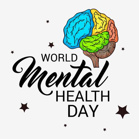 Wereld geestelijke gezondheidsdag. Stockfoto - 87764279