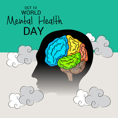 World Mental Health Day. 版權商用圖片 - 87765248