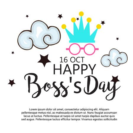 幸せのボスの日。  イラスト・ベクター素材