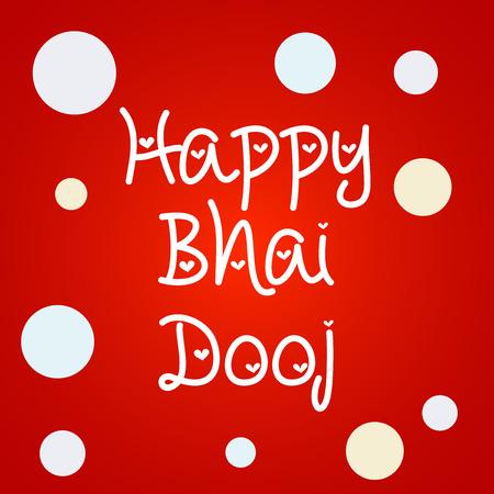 Happy Bhai Dooj on red background, vector illustration.