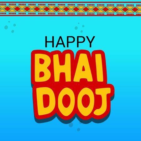 Happy Bhai Dooj design.