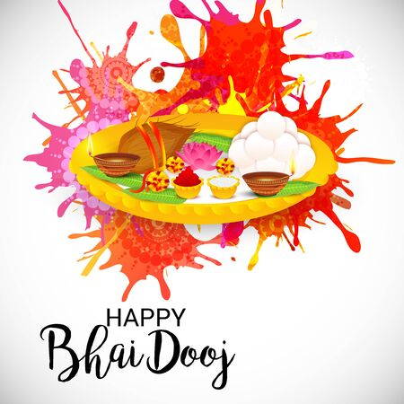 Happy Bhai Dooj design.