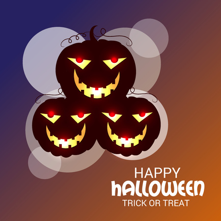 cast: Happy Halloween. Vector illustration.