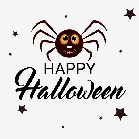 flayer: Happy Halloween. Vector illustration.