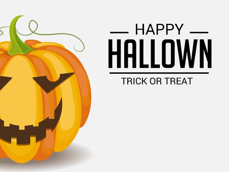 Happy Halloween. Vector illustration.