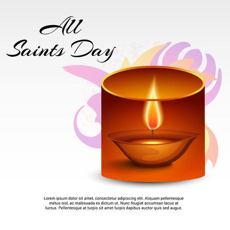 All Saints Day. Vektorové ilustrace