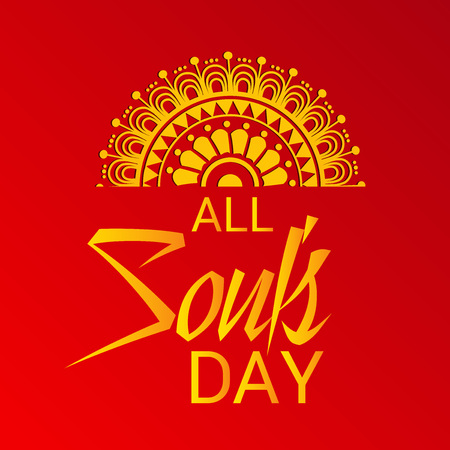 すべての魂の日。  イラスト・ベクター素材