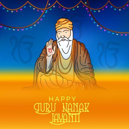 Guru Nanak Jayanti. Vector illustration.