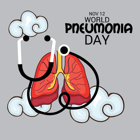 World Pneumonia Day. Vector illustration.