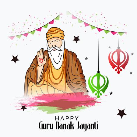 Happy Guru Nanak Jayanti. Stock Vector - 88620005