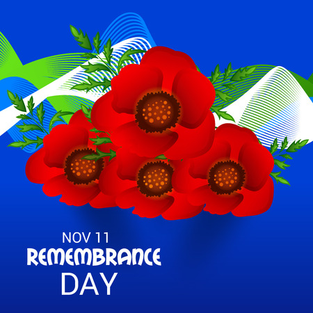 Remembrance Day vector design.