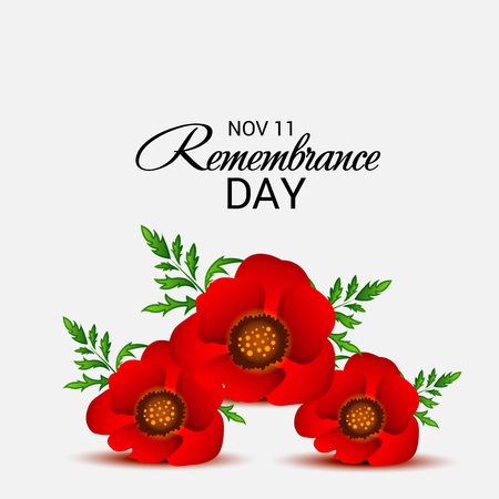 11th: Remembrance Day. vector illustration.