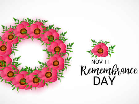 Remembrance Day. vector illustration Illustration