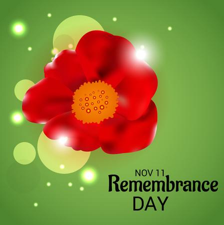 Remembrance Day. vector illustration Illustration