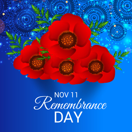 Remembrance Day. vector illustration Ilustrace