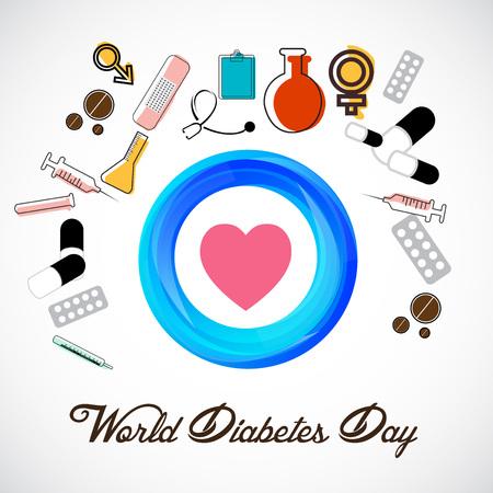 세계 당뇨병의 날 포스터 디자인 일러스트