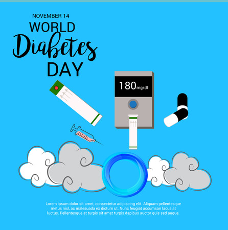 hospital patient: World Diabetes Day poster design