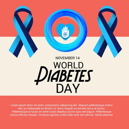 Giornata Mondiale del Diabete. illustrazione vettoriale. Archivio Fotografico - 89256484