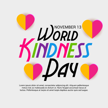World Kindness Day vector design.