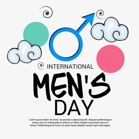 International Mens day white background vector illustration. Illustration