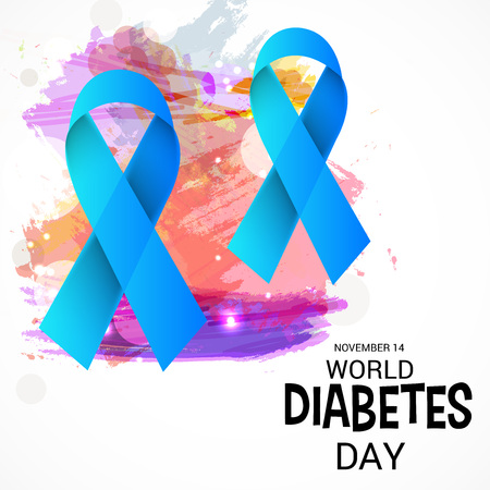 World Diabetes day. vector illustration. Çizim