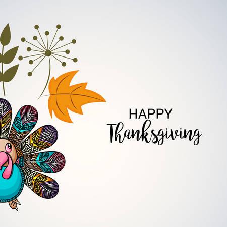 Happy Thanksgiving. vector illustration.