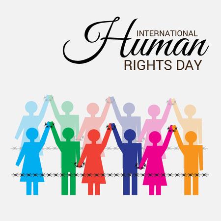 Internationale dag van de mensenrechten. Stock Illustratie