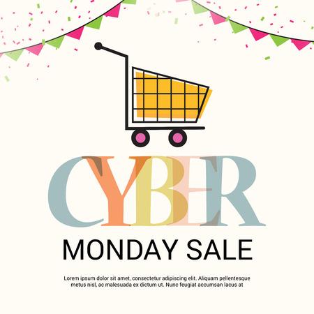 Cyber Monday Sale. Stock Illustratie