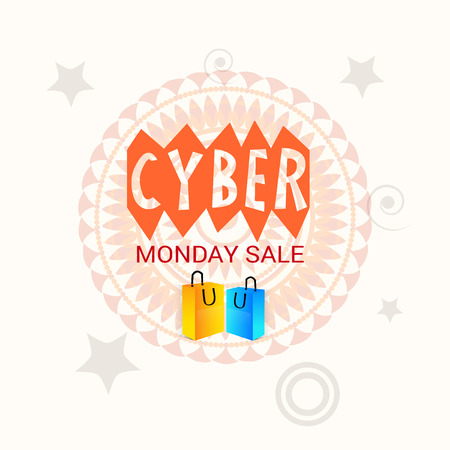 Cyber Monday Sale. Illustration