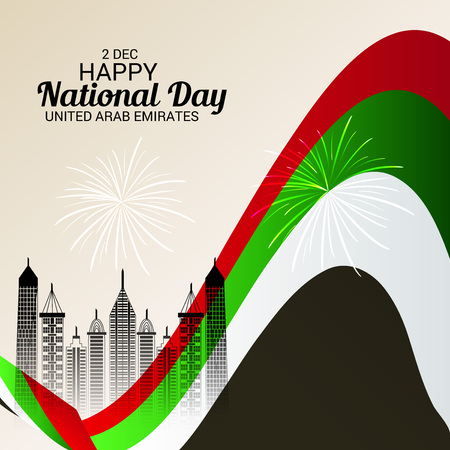 UAE National Day vector illustration