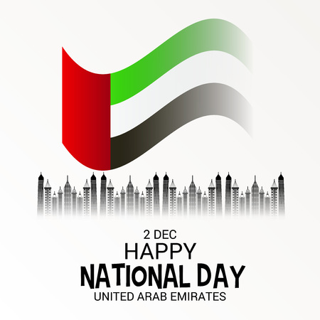 UAE National Day vector illustration