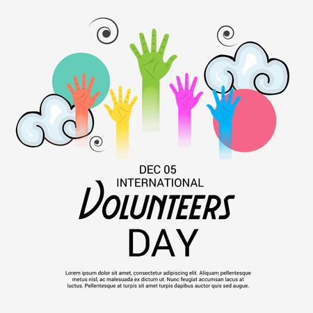 International Volunteers Day. Vettoriali