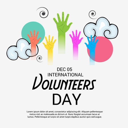 International Volunteers Day. Illustration