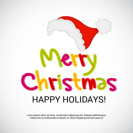 Holiday card design vector illustration