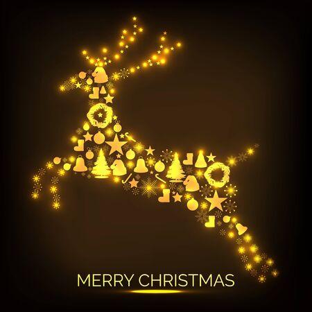 メリークリスマスベクトルイラスト。  イラスト・ベクター素材