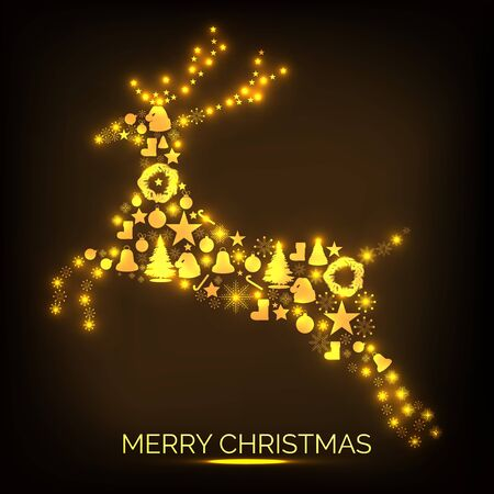 Merry Christmas vector illustration.