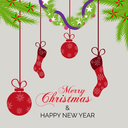 Christmas greeting card design concept. 向量圖像
