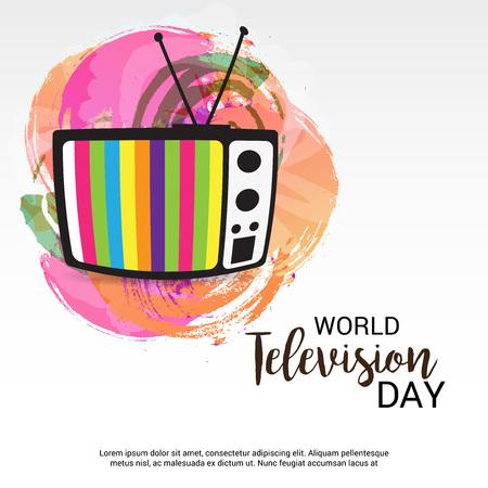 Weltfernsehtag auf weißer Hintergrundillustration. Standard-Bild - 92032303