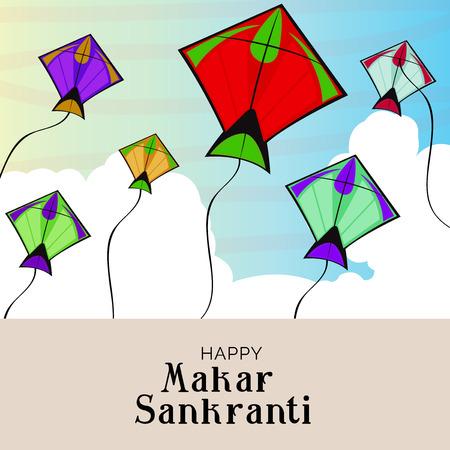 Happy Makar Sankranti. Stock Vector - 92032831