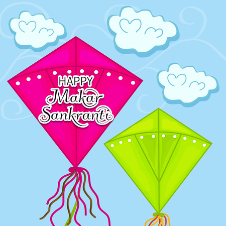 Happy Makar Sankranti. Vector illustration.