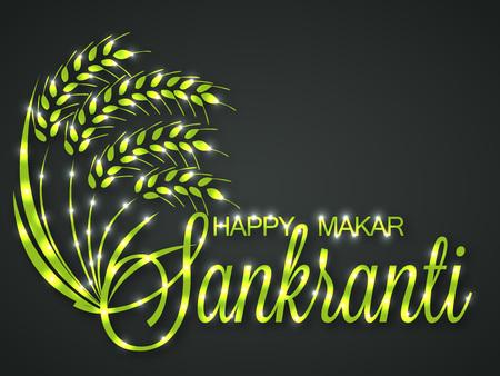 Happy Makar Sankranti. Vector illustration. Stock Vector - 92109769